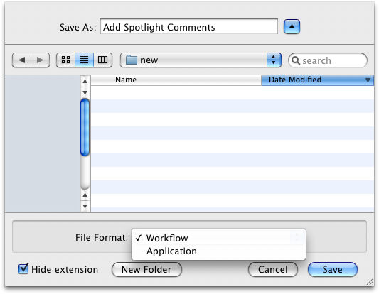 Workflow Save As
