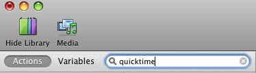 Limit to QuickTime actions