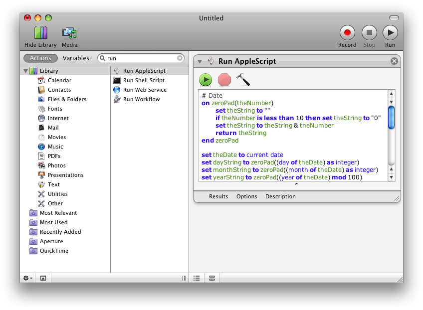 Run Applescript Window - my script inserted