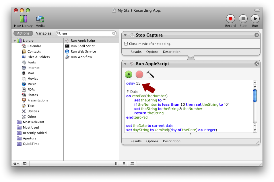 Delaying Applescript